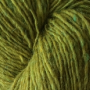 Isager tweed farve lime